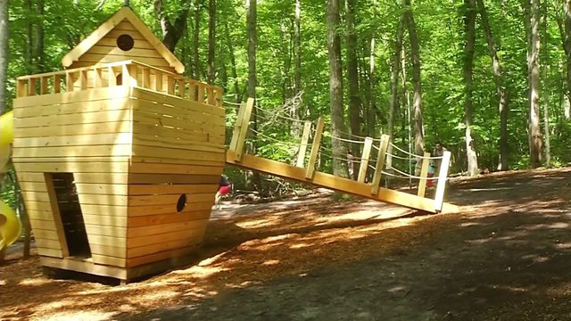 Local Eagle Scout makes giant ark for Roanoke summer camp