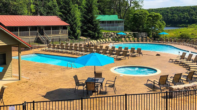 Pool unveiled at Mountain Lake Lodge resort
