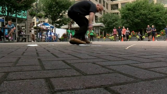 Downtown Roanoke Olympics underway