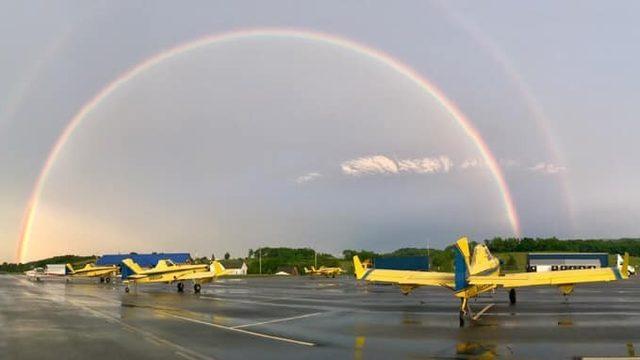 PHOTO GALLERY: Tuesday evening rainbow, sunset