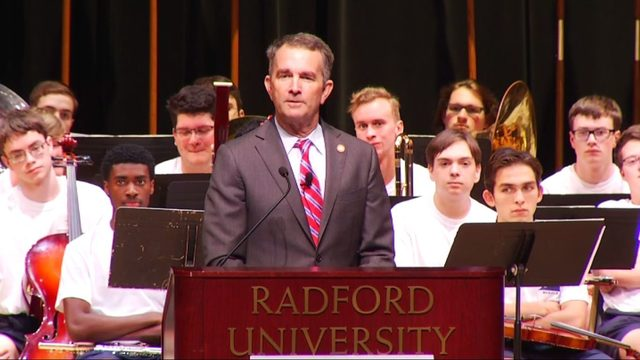 Northam addresses high school students, fields questions on gun control bills