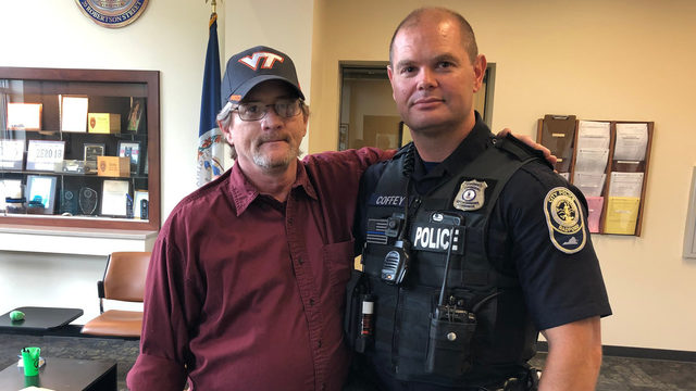 Radford officer's quick action credited with saving man's life