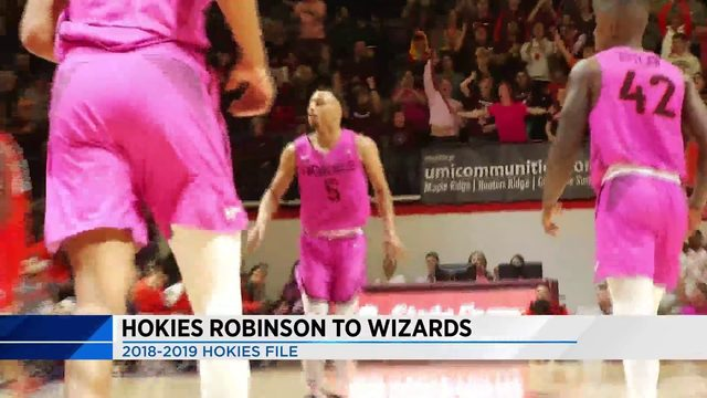 Hokies Robinson signs with Wizards