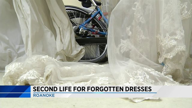 Vintage wedding dresses saved from old Roanoke business on sale for chairty