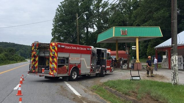 Car rolled over into gas station in Botetourt County