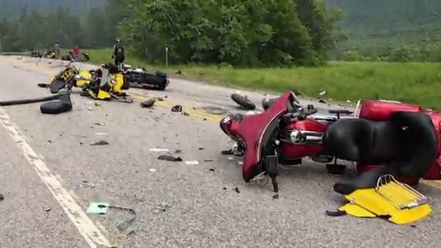 Truck driver charged with 7 homicides in motorcycle crash