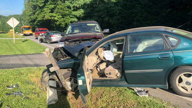 Three hurt in head-on crash in Forest