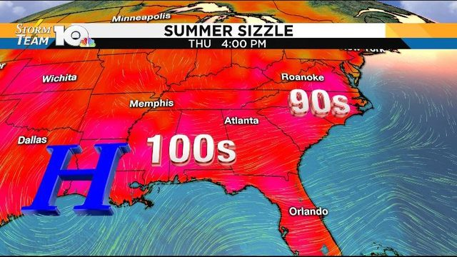 Sunshine returns Tuesday, heat wave develops through weekend