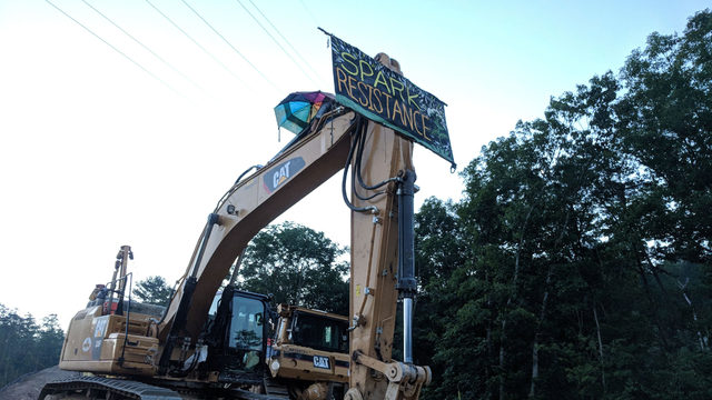 Mountain Valley Pipeline protester charged after locking himself to equipment