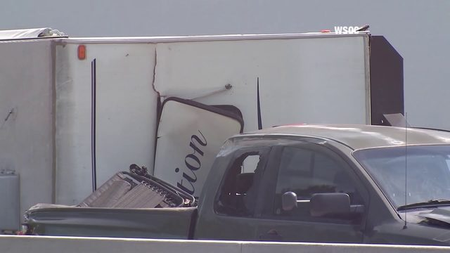 Camper rolls over on I-77 in North Carolina, crash caught on camera