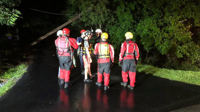 Crews rescue people trapped in car in Botetourt County, downed powerlines nearby