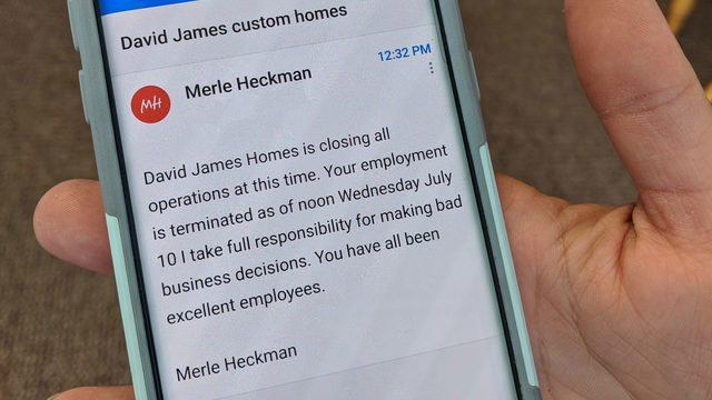 David James Homes closes for good citing 'bad business decisions'