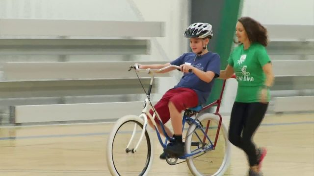 Camp teaches children with disabilities how to ride a bike