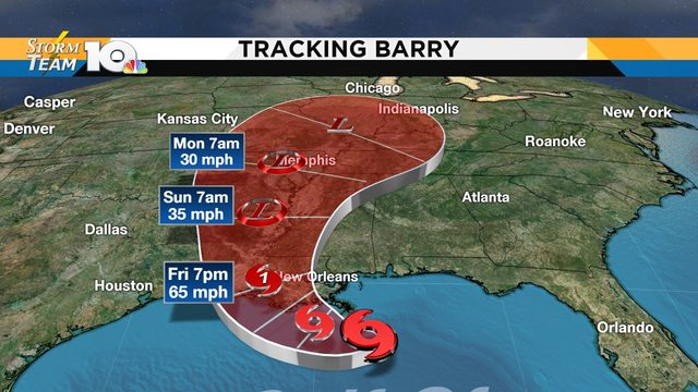 Tropical Storm Barry forms in the Gulf of Mexico
