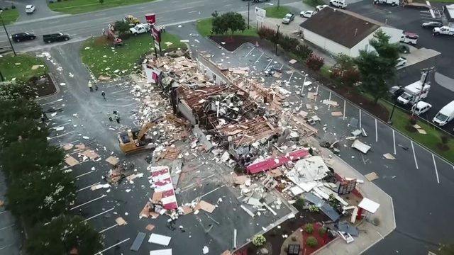 North Carolina KFC destroyed by explosion