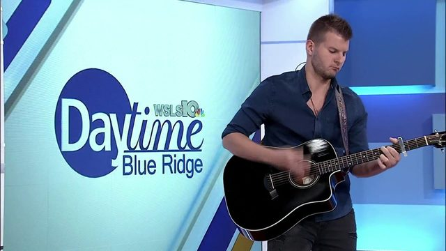 Justin Fabus stops by to perform on Daytime Blue Ridge
