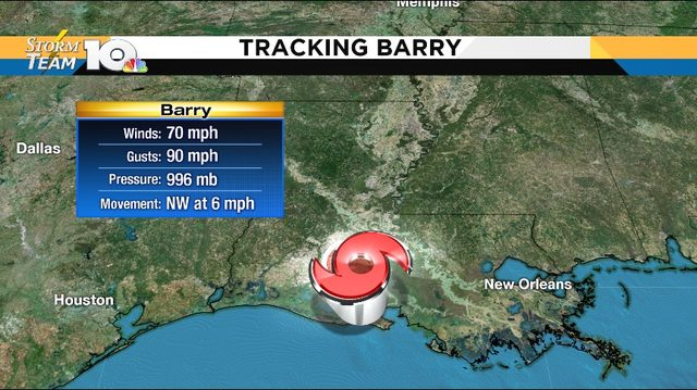 Barry continues to threaten Louisiana