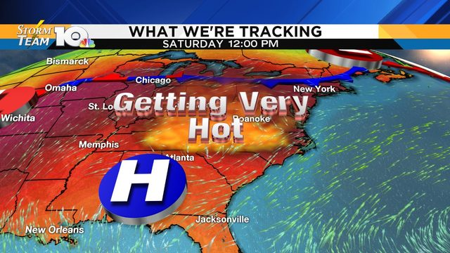 Potentially dangerous heat late this week into the weekend