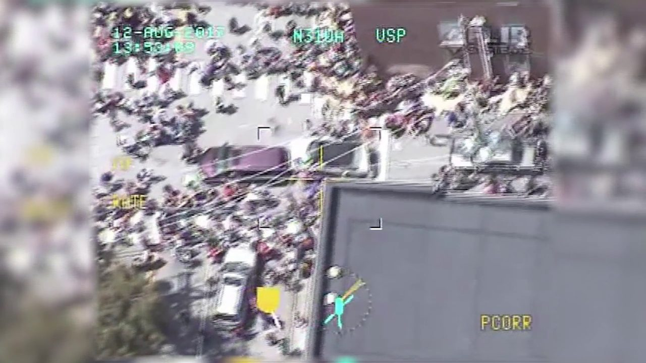Helicopter footage shows troopers' 2017 pursuit of Charlottesville murderer