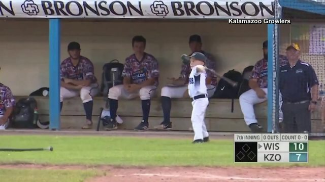 Kid manager for baseball team loses it
