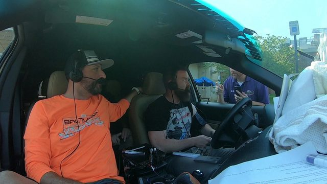 Radio show broadcasts from hot car to highlight dangers