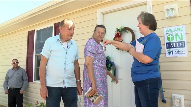 Elon couple move back home after tornado destroyed it one year ago