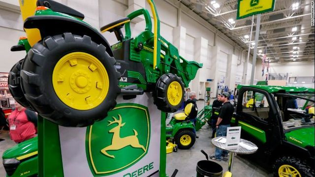 Missing toddler drove himself down to the county fair on his toy tractor