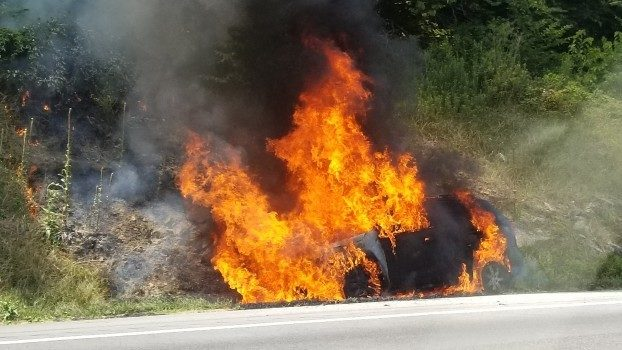 Vehicle fire causes delays on I-81 south in Montgomery County