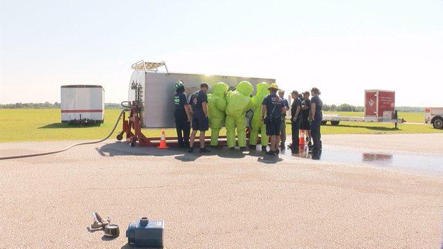 Danville firefighters get new training for hazardous material spill