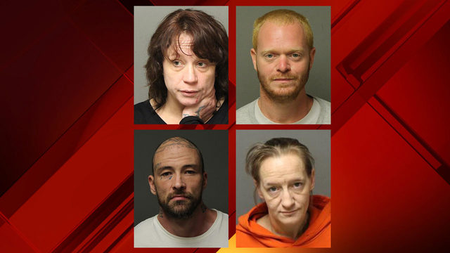 Four people arrested after two Giles County drug raids