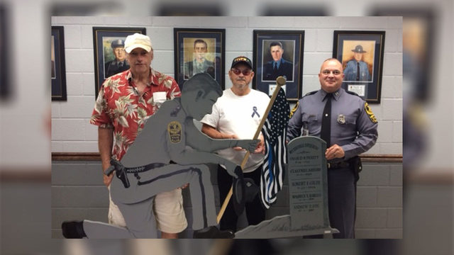 Honoring the fallen: Radford residents present state police with…