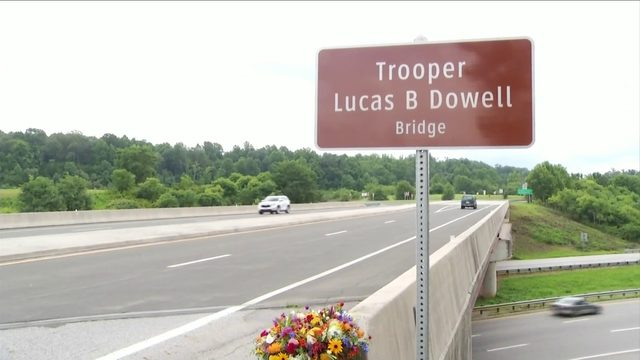 Amherst County bridge named in honor of fallen state Trooper Lucas Dowell