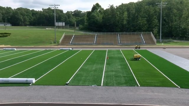 Glenvar High School installs new turf football field