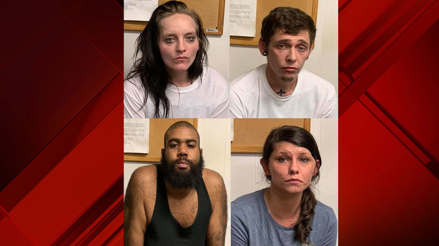 Four arrested in Giles County on drug charges