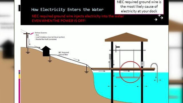 Smith Mountain Lake stray voltage in water; asking for support in…