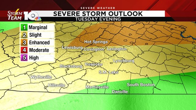 High heat, severe storms possible by Tuesday