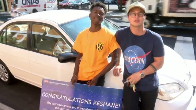 Roanoke teen surprised with car