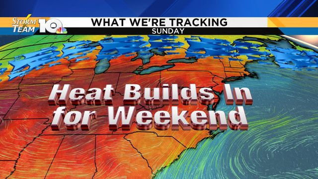 Heat, humidity, pollen levels all elevated through the weekend