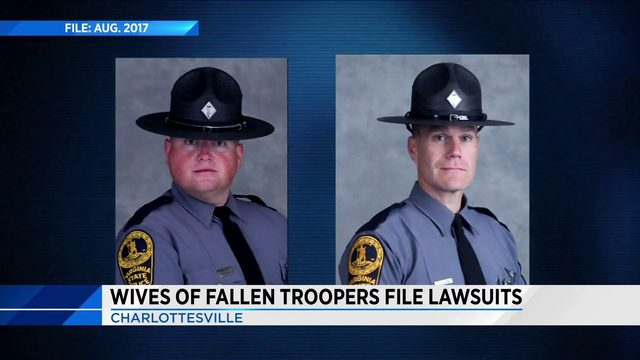 Widows sue over troopers killed in Virginia helicopter crash