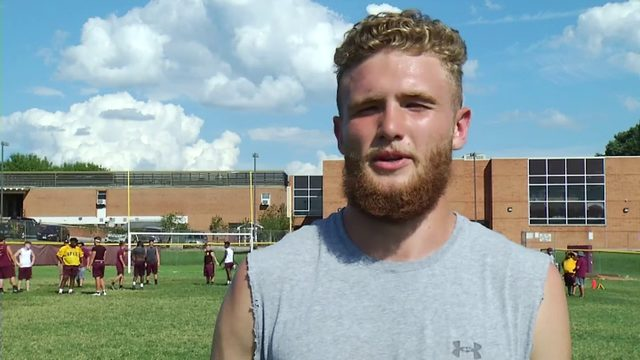 Web Extra: Brookville LB Anthony McDougall interview-1st and 10 Camp Tour