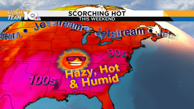 Heat wave continues through the weekend; 90s likely