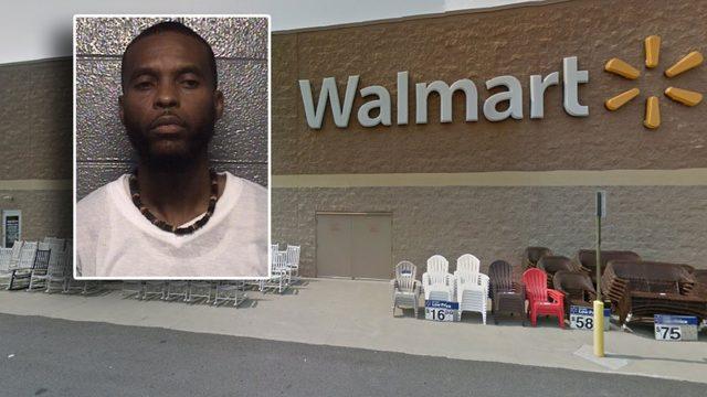 Man arrested after allegedly attacking an elderly man inside a Walmart