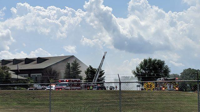 Crews battling rail car trash fire in Roanoke at Tinker Creek Transfer Station