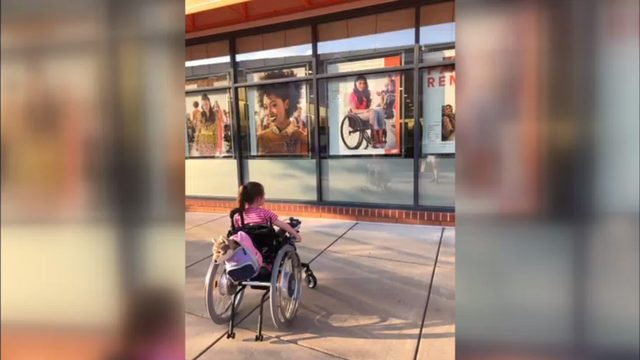 VIRAL PHOTO: Virginia girl stops to stare at Ulta Beauty model in wheelchair