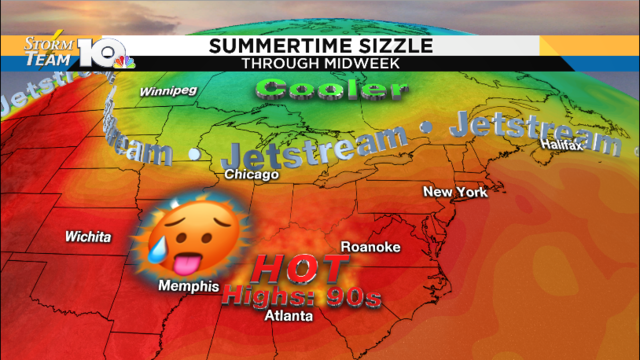 No relief, heat wave continues for the work week