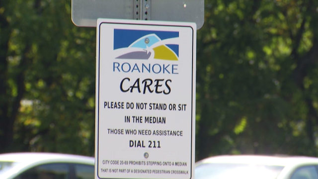 Roanoke installing more than two dozen signs to keep people off medians