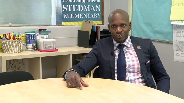 Man started as a custodian, now he's the principal