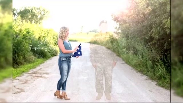 Nebraska high schooler honors fallen father in senior portraits