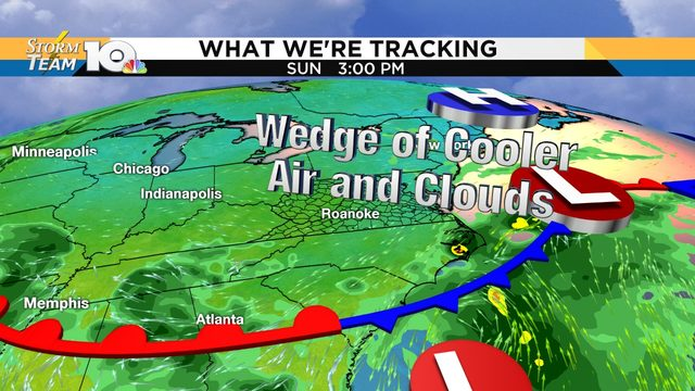 RELIEF COMING: One more day of high heat; 70s this weekend