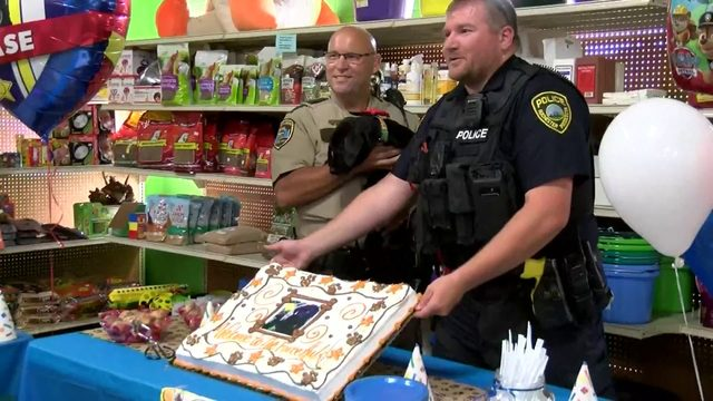 Minnesota law enforcement officials throw new K-9 a puppy shower